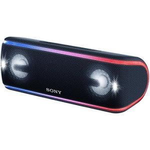 ソニー ワイヤレスポータブルスピーカー 重低音モデル SRS-XB41 : 防水・防塵・防錆/Blu...