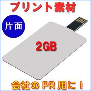 2GB カード型USB デザイン自由!会社PR用に最適です♪【片面プリント100枚】