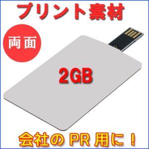 2GB カード型USB デザイン自由!会社PR用に最適です♪【両面プリント100枚】