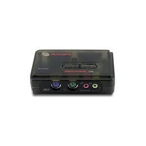 アボセント SwitchView 100 2-ポート PS/2 KVMスイッチ (CPU切替器)|iogear
