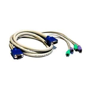 オールインワンケーブル(キーボード、マウス、モニタ) 7フィート長 (CO-0732)|iogear