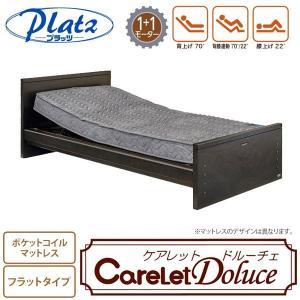 ケアレットドルーチェ 背上げ1+1モーターベッドセット (フラット・ポケットコイルマットレス) フラットタイプ 電動ベッド+マットレスセット|ioo-neruco