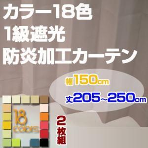 カーテン 1級遮光 防炎加工 ドレープカーテン「レイナ」幅150cm×2枚組 丈205-250cmまで5cm刻み|ioo
