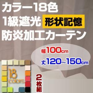 カーテン 1級遮光 幅100cm 丈205-250cm 2枚組み|ioo