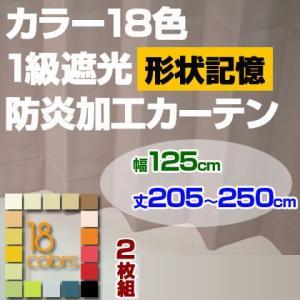カーテン 1級遮光 幅125cm 丈205-250cm 2枚組み|ioo