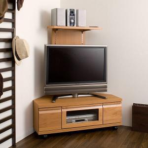 コーナーテレビ台 バックパネル付き ナチュラル テレビボード|ioo
