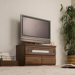 テレビ台 幅80cm テレビボード 完成品 収納 ユニット家具 ダークブラウン|ioo