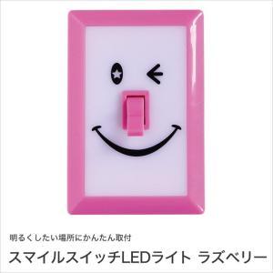 SPICE スマイルスイッチLEDライト ラズベリー LED照明 面ファスナーテープ付 単4電池3本使用 PEVS1050RB|ioo