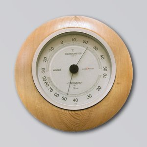 旭川クラフト 木製置・掛両用温湿度計