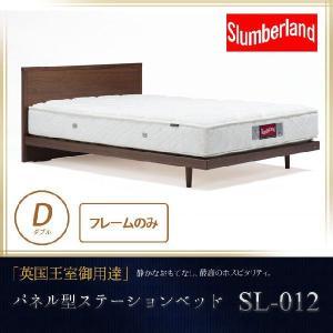スランバーランド ダブル 脚付ウォールナット突板パネル型ベッド・SL-012 フレームのみ ダブル|ioo