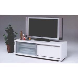 テレビ台 幅120cm 完成品 ホワイト白 42型薄型TV対...