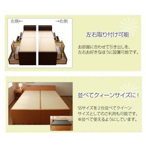 収納ベッド 宮付チェストベッド フレームのみ セミシングル 引き出し付き 収納付きベッド|ioo|06