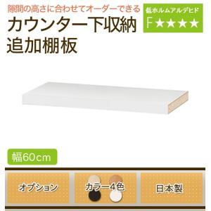 キッチンカウンター カウンター下収納 日本製 オーダーカウンター オプション/追加棚板・幅60cm|ioo