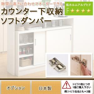 キッチンカウンター カウンター下収納 日本製 オーダーカウンター オプション・ソフトダンパー|ioo
