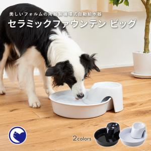 犬 猫 水飲み 清潔 セラミックファウンテンビッグ ホワイト|ip-plus