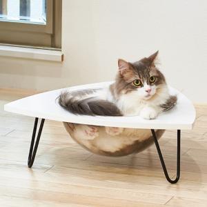 ネコ ベッド スタンド おしゃれ インテリア  キャットクリアカプセル テーブル|ip-plus