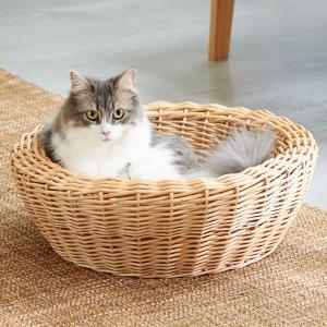 ねこ 猫 ベッド 柳 天然素材 YANAGI キャットベッド|ip-plus