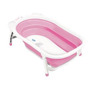 (アウトレット50%OFF) 犬 シャンプー お風呂 折りたたみ ぺたバス ピンク ※外箱つぶれ※ ip-plus
