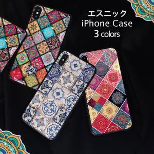 6b7c7089e3 iPhone8 iPhone7 ケース iPhoneXR iPhoneXS Max 耐衝撃 おしゃれ ブランド カバー フルカバー キラキラ エスニック 柄
