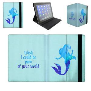 【 国内未発売 】 ディズニー プリンセス リトルマーメイド アリエル シルエットデザイン iPad / iPad-mini ケース