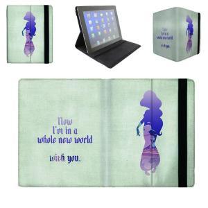 【 国内未発売 】 ディズニー プリンセス ジャスミン シルエットデザイン iPad / iPad-mini ケース