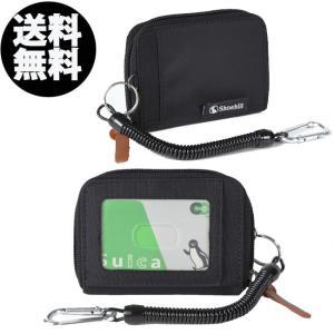 パスケース 定期入れ 小銭入れ メンズ レディース 財布 コインケース カラビナ ドローコード付 両面ポケット L字|iphone-smart