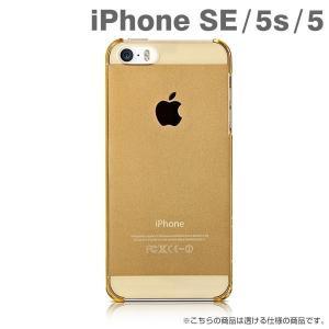 iphoneSE iphone5s iphone5 ケース ハード カバー simplism  (Airly) 超極薄ハードケース(クリアゴールド) iPhone se アイフォン アイホン|iplus