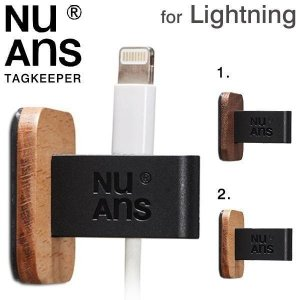 NuAns ケーブルホルダー ケーブル 収納 iPhone スマホ WORKLIFE TAGKEEPER 2個セット ケーブルクリップ Lightning micousb|iplus