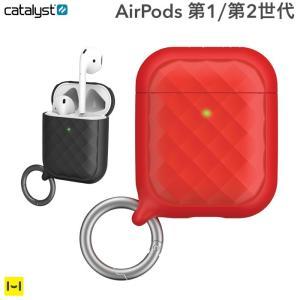 AirPods ケース catalyst カタリスト リングクリップケース  レッド