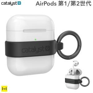 AirPods ケース シリコン バンド catalyst カタリスト ミニマリストケース  ブラッ...