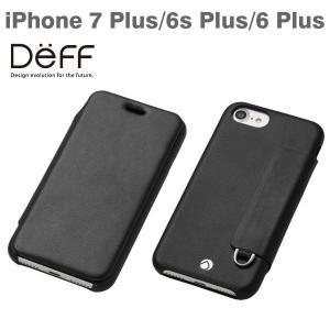 iPhone7Plus ケース 手帳 アイフォン7プラス ケース スマホケース Deff フリップカバー付タイプケース PUレザー ブラック iPhone6Plus iPhone6sPlus RONDA|iplus