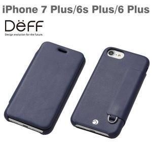 iPhone7Plus アイフォン7プラス ケース 手帳 Deff RONDA フリップカバー付タイプケース PUレザー Navy Blue/ネイビーブルー iPhone6Plus iPhone6sPlus|iplus