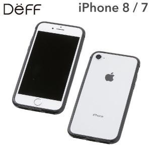 iphone8 バンパー ケース iphone7 Deff ディーフ アルミニウム&TPU  AERO ブラック / ブラック|iplus