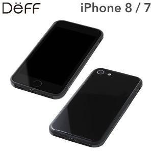 (iPhone 8/7専用)Deff ガラス&アルミニウム&TPU ハイブリッドケース UNIO(ブラック)|iplus