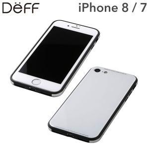 (iPhone 8/7専用)Deff ガラス&アルミニウム&TPU ハイブリッドケース UNIO(ホワイト)|iplus