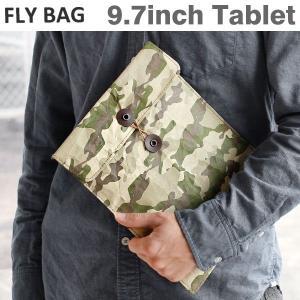 FLY BAG フライバッグ iPad ケース L(カモフラ) ペーパーバッグ タイベック(R) ブランド 迷彩|iplus