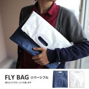 FLY BAG フライバッグ クラッチバッグ(ネイビー×ホワイト) セカンドバッグ おしゃれ メンズ ブランド ポーチ タイベック(R)|iplus