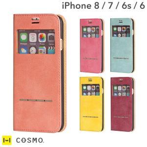 iPhone8 アイフォン8 ケース 窓付き 手帳 横 iP...