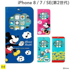 iPhone7 アイフォン7 ケース ディズニー ケース 窓付き 手帳 横 手帳型 キャラクター フリップ カバー アイフォンケース|iplus