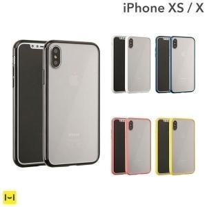 iPhoneX アイフォンX iPhone10 ケース サイドカラード クリア ハイブリッド 透明 カバー TPU|iplus