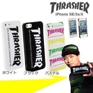 iphone SE iphone5s ケース THRASHER スラッシャー ブランド アイフォン5s アイフォン5 ハード スマホケース メンズ|iplus