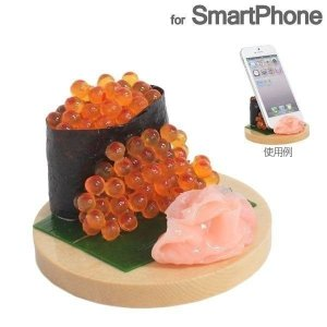 食品サンプル スタンド(いくらこぼし)スマホ スマートフォン グッズ|iplus