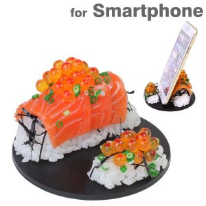 食品サンプル スタンド イクラ サーモン スマホ スマートフォン グッズ iphone スタンド|iplus