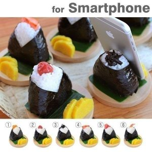 食品サンプル スタンド おにぎり スマホ スマートフォン グッズ iphone スタンド|iplus