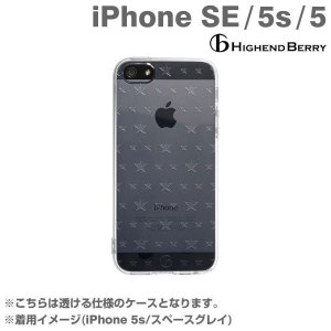 iPhone SE ケース iphone5s iphone5 ケースカバー Highend Berry TPUケース ストラップホール&保護キャップ付き(ダブルサイズスター)ハイエンドベリー|iplus