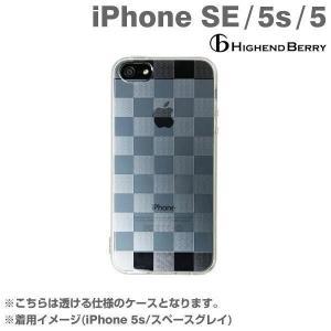 iPhone SE ケース iphone5s iphone5 ケースカバー Highend BerryTPUケース ストラップホール&保護キャップ付き(チェッカード)ハイエンドベリー iplus