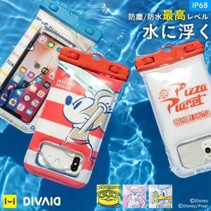 防水スマホケース メンズ  ディズニー スマホ 防水ケース iphone 7 iphone6 キャラクター 海 フローティング 浮く 防水 ケース 携帯防水ケース【disney_y】|iplus