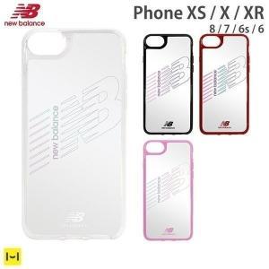 iPhone XS X XR ケース iPhone 8 7 ケース 6s 6 ケース ニューバランス New Balance サイドカラー クリアケース|iplus
