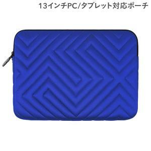 パソコンバッグ 13インチ パソコンケース PCケース カバーケース 13インチ対応PCケース マシュマロ/ブルー All New Frame|iplus