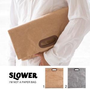 SLOWER BAG スローワーバッグ クラッチバッグ セカンドバッグ ブランド ペーパーバッグ ポーチ バッグ 鞄 タイベック(R) メンズ|iplus